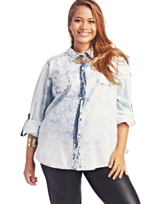 wet seal acid wash shirt