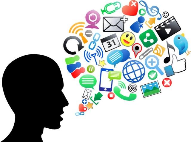 social media clutter
